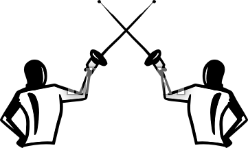 Fencing clipart practice. Free cliparts download clip