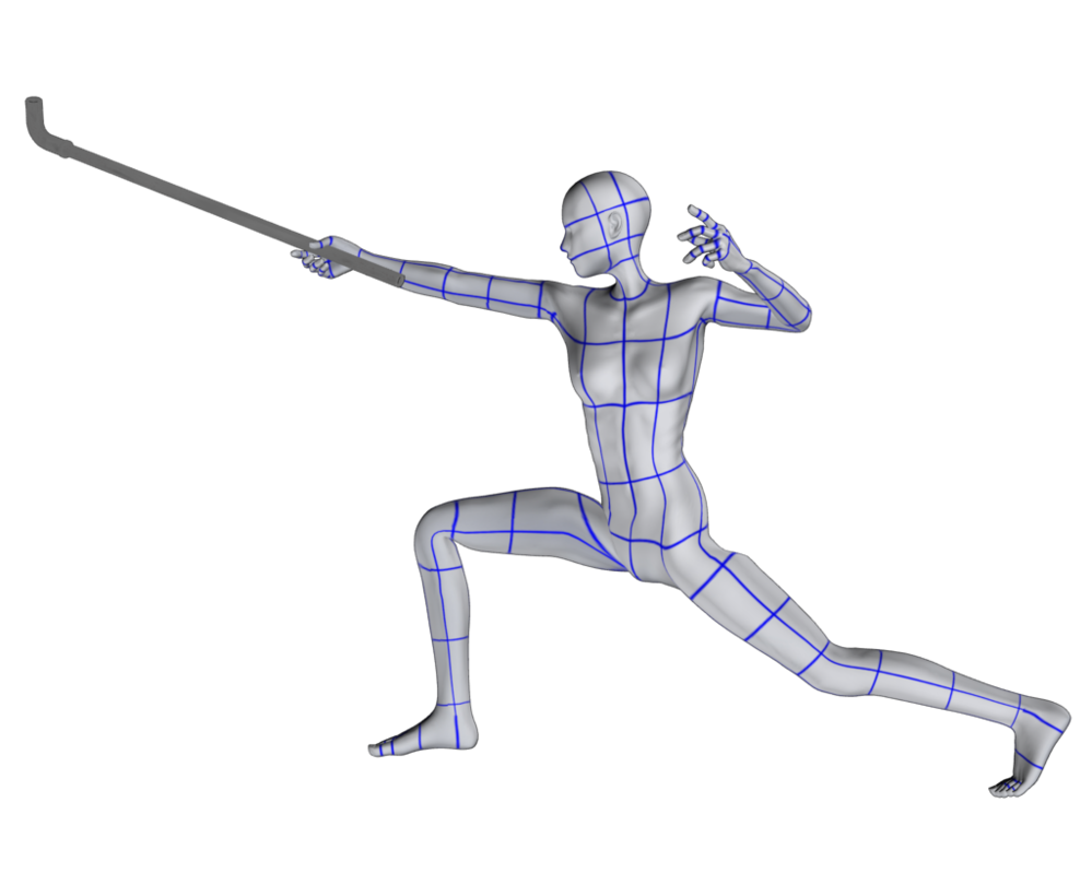 Fencing drawing poses. Pose a by nekomakino