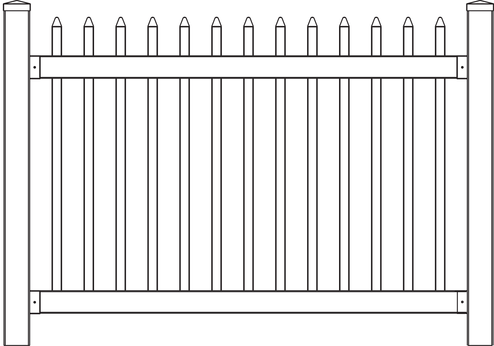 Fencing drawing simple. New line of no