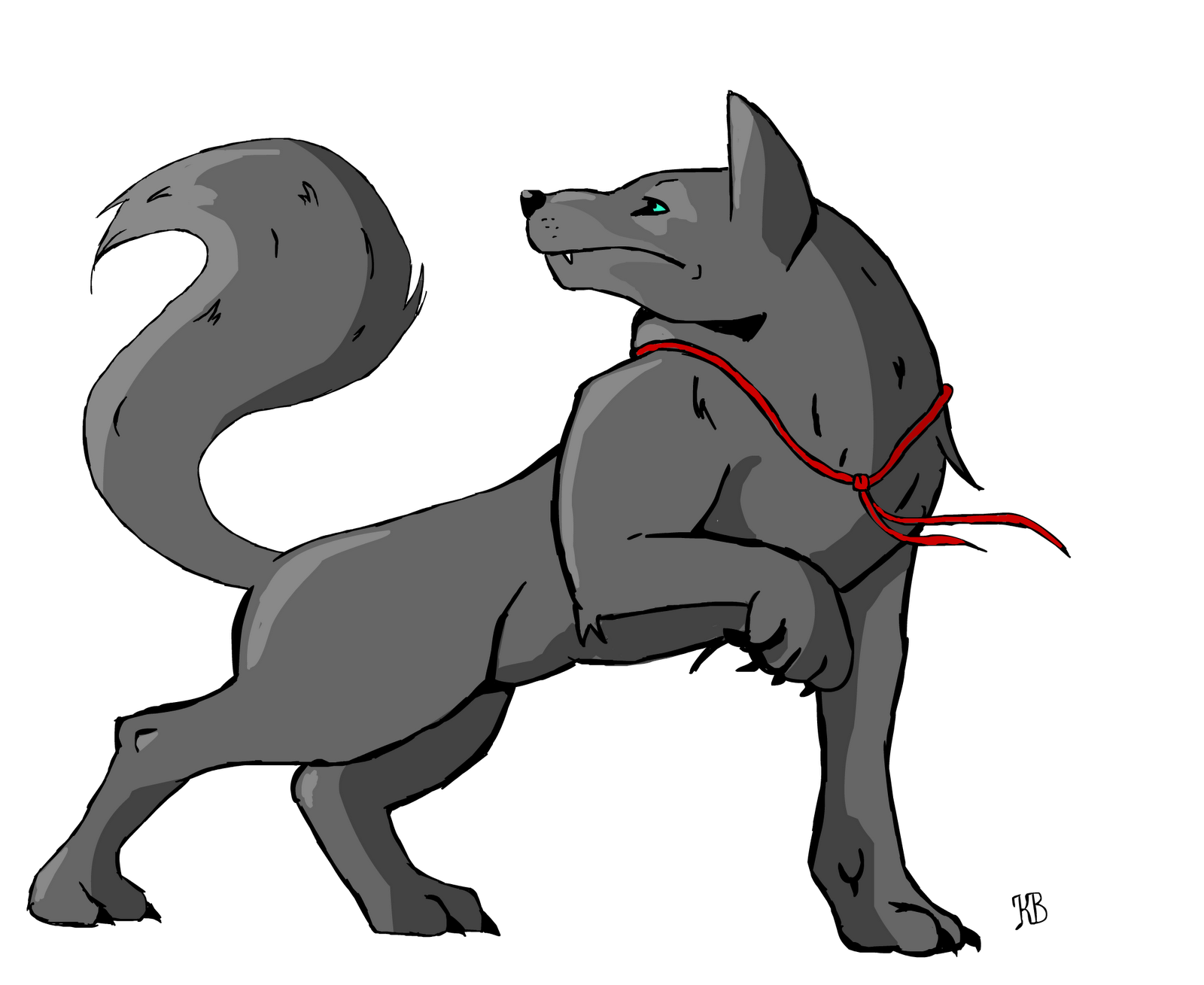 Fenrir drawing chained. Kylie burrell s digital
