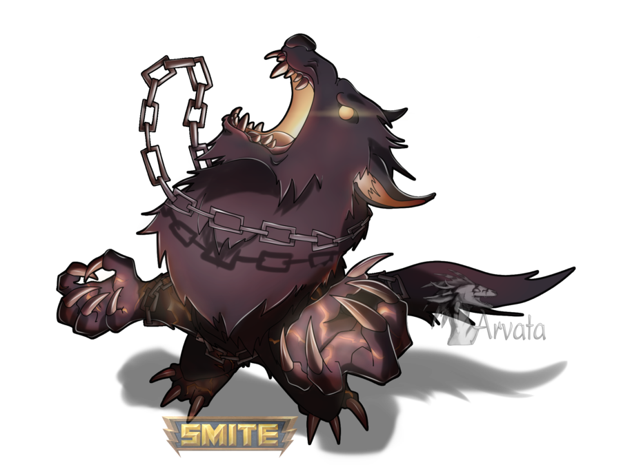 Fenrir drawing mythical creature. Smite chibi by arvata
