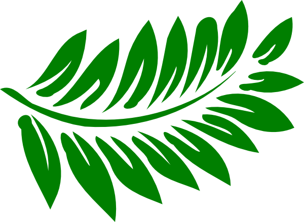 Fern clipart green fern. Darker clip art at