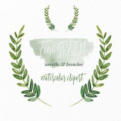 Fern clipart olive. Watercolor ferns forest leaves