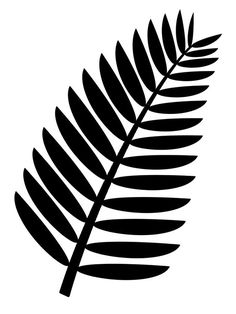 Fern clipart stencil. Pattern use the printable