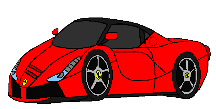 Laferrari drawing car ferrari. By theevstar on