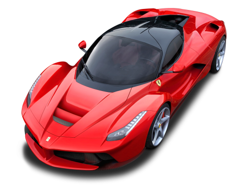 Ferrari laferrari png. Top view of car