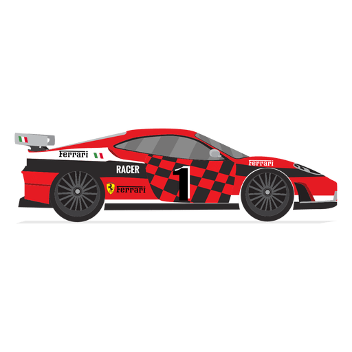 Ferrari racing car transparent. Vector race picture royalty free library