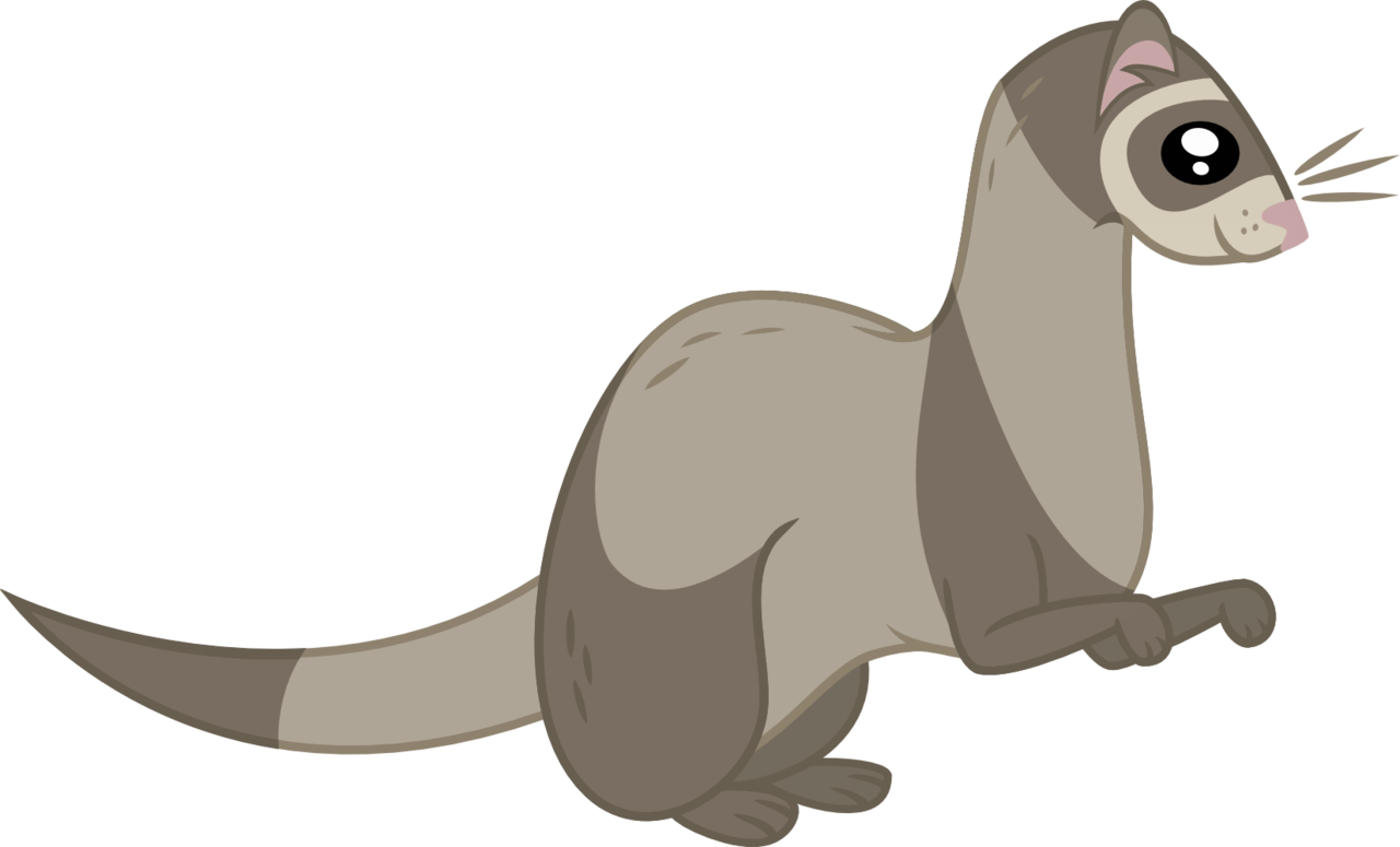 Ferret vector animal. Artist violetferret safe