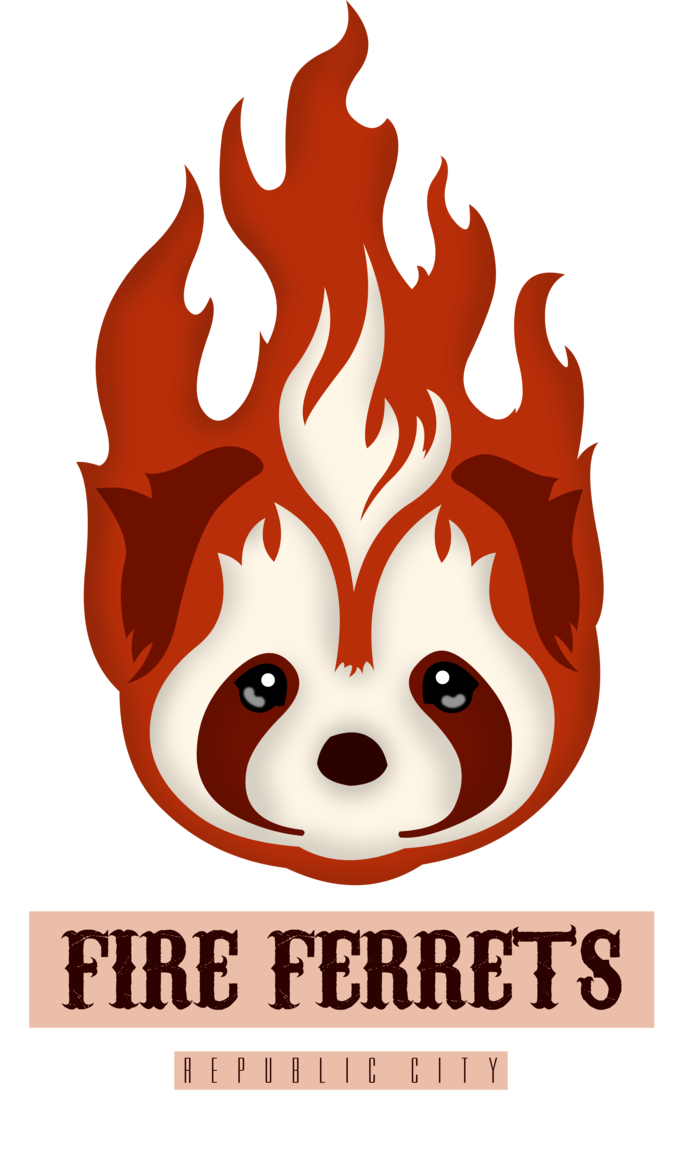 Ferret vector clipart. Fire ferrets by eduardowar
