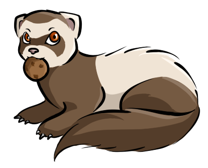 Ferret vector creature. Baby emojis for you