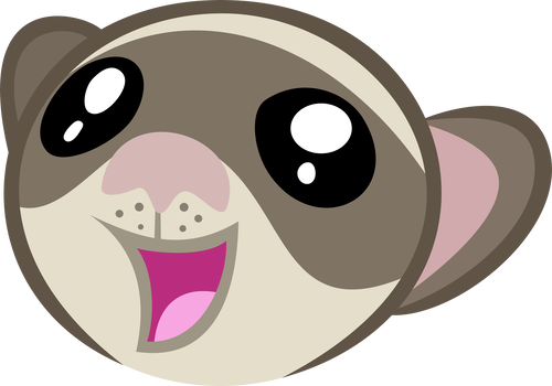 Ferret vector creature. Creatures and pets on