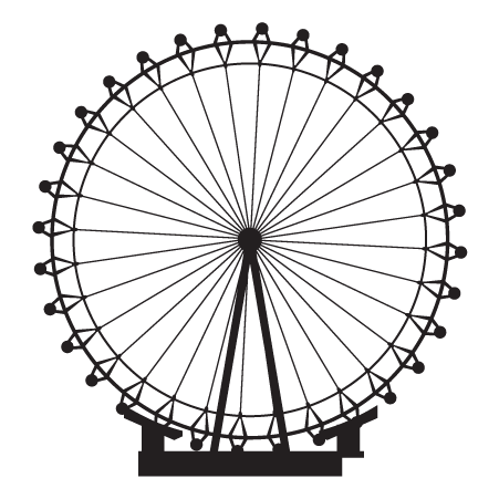 Ferris wheel silhouette png. London eye wall quotes