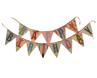 Festival clipart colourful bunting. Happy birthday banner celebration