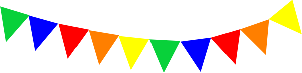 Bunting vector template. Festivals philippines fiesta in
