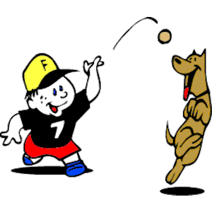 Fetch. Dog playing clipart cliparts