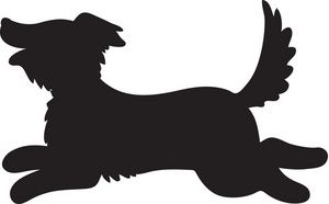 Fetch. Clipart image a silhouette