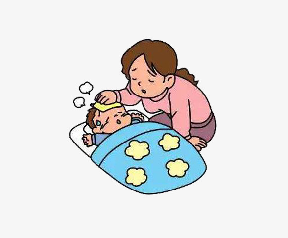 Fever clipart. Children have a worry svg royalty free stock
