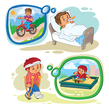 Fever clipart ill. Cartoon illustration illness discomfort