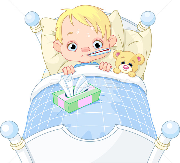 Fever clipart poorly child. Sick stock photos images