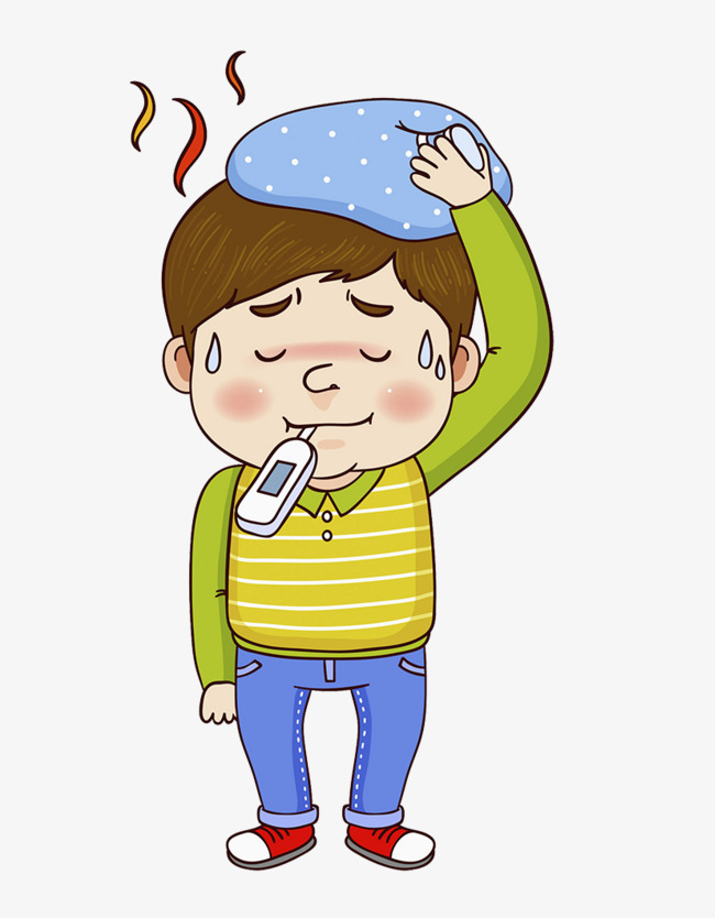 Fever clipart today. Sick physical cooling baby