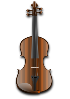 Violin double bass bowed. Fiddle drawing clip freeuse library