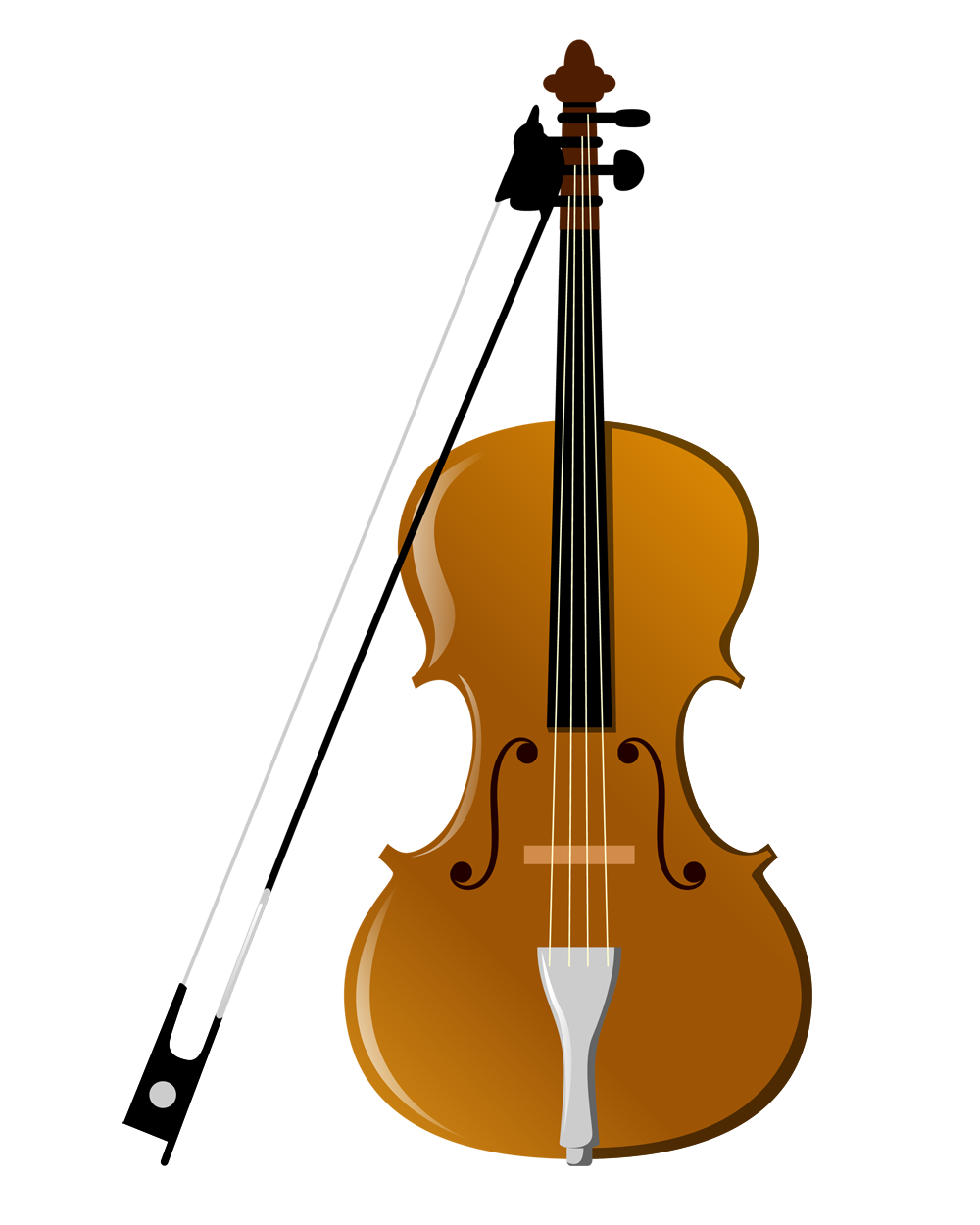 Violin musical instrument cartoon. Fiddle drawing banner royalty free download