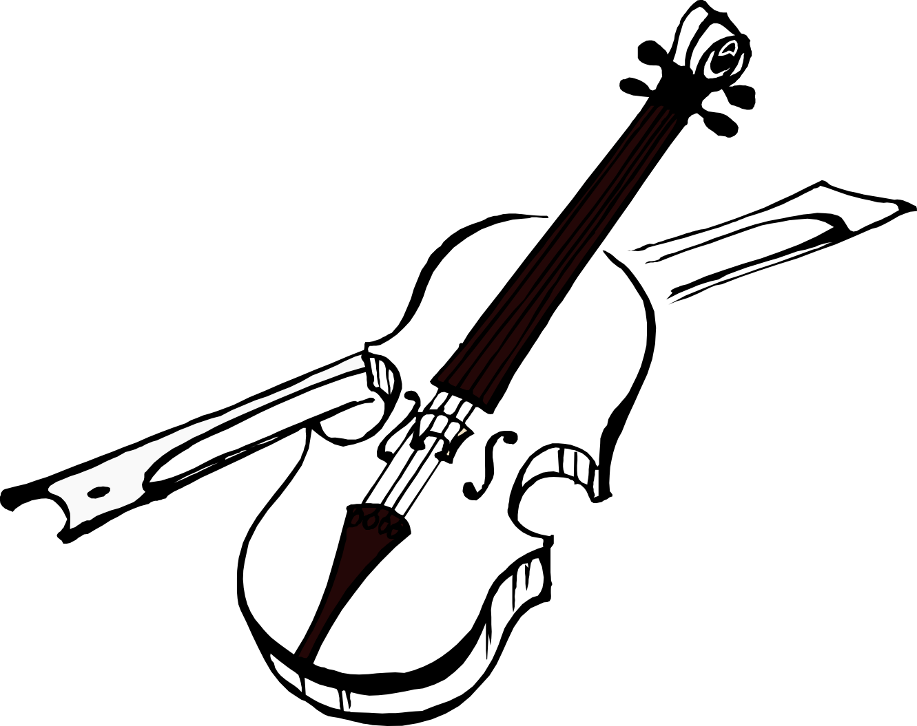 Simple violin at getdrawings. Fiddle drawing clipart freeuse library