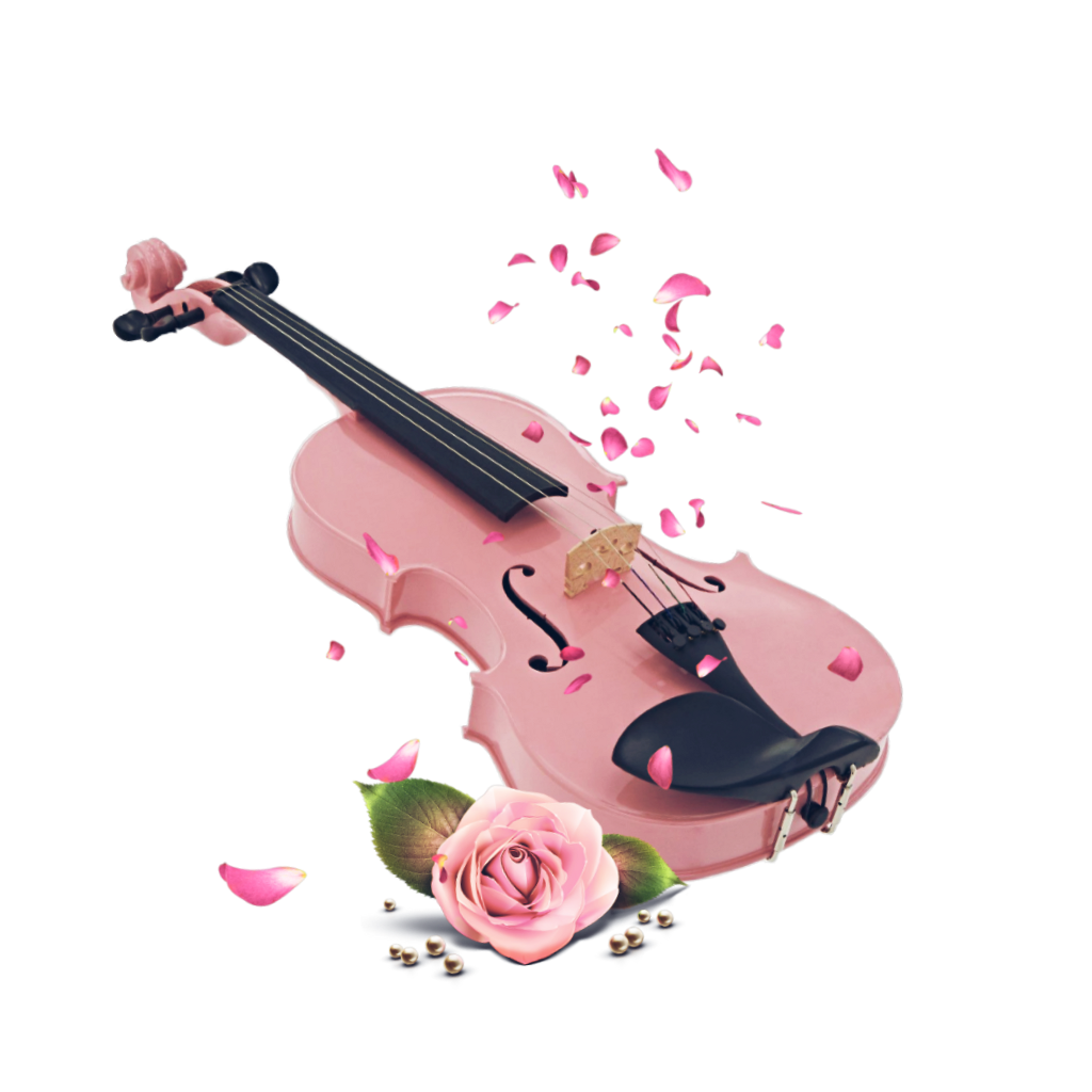 Fiddle drawing cute. Violin pink aesthetic instrument