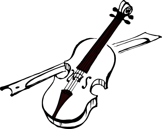 Fiddle vector. Artfavor violin black white