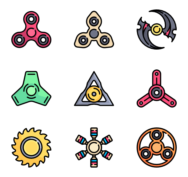 Fidget spinner clipart vector. Icon packs svg