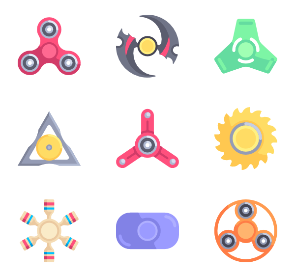 Fidget spinner clipart vector. Icons free