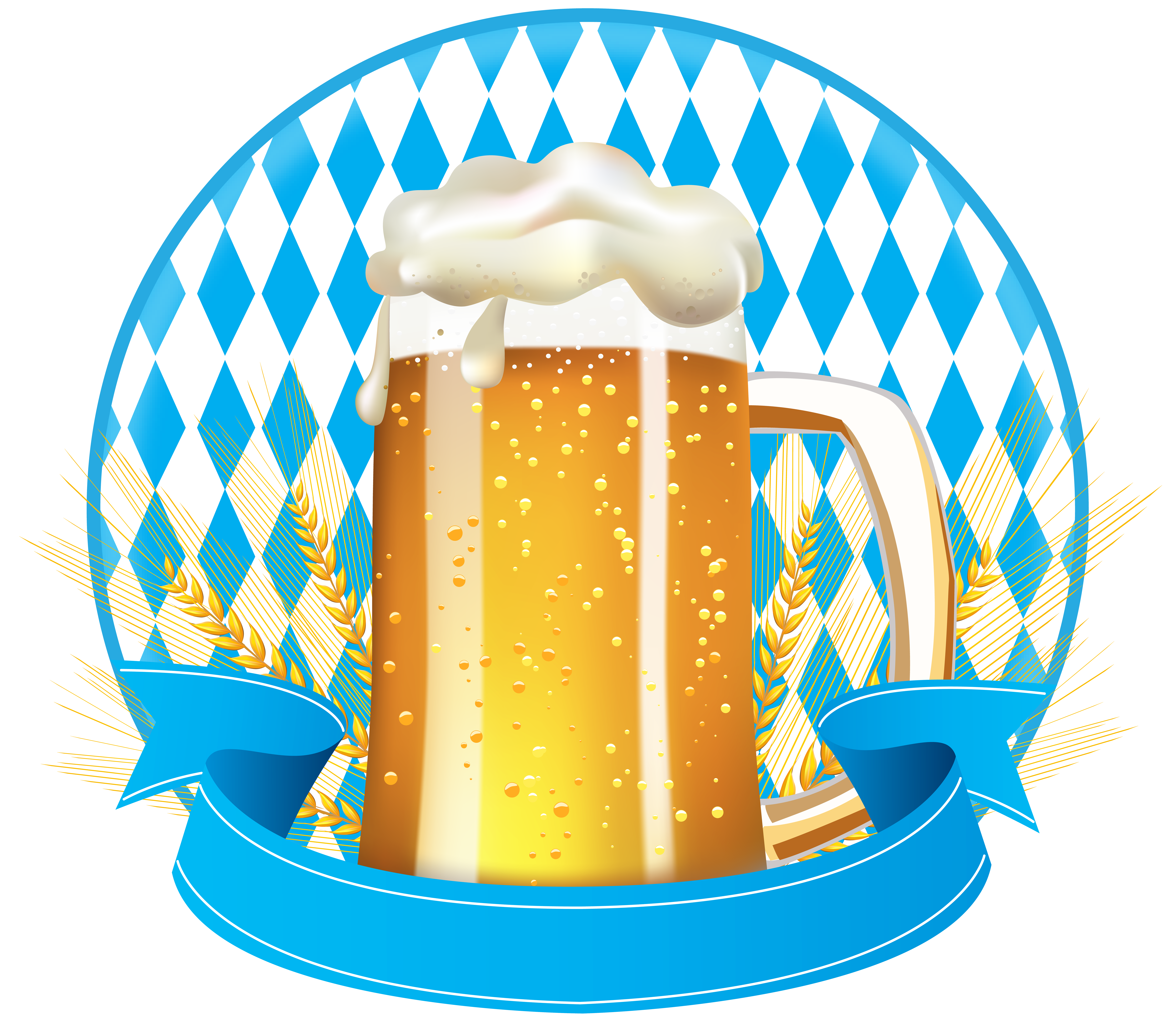 Field clipart banner. Oktoberfest with beer clip