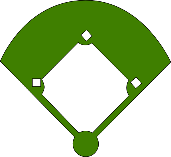 Field clipart green field. Baseball layout positions