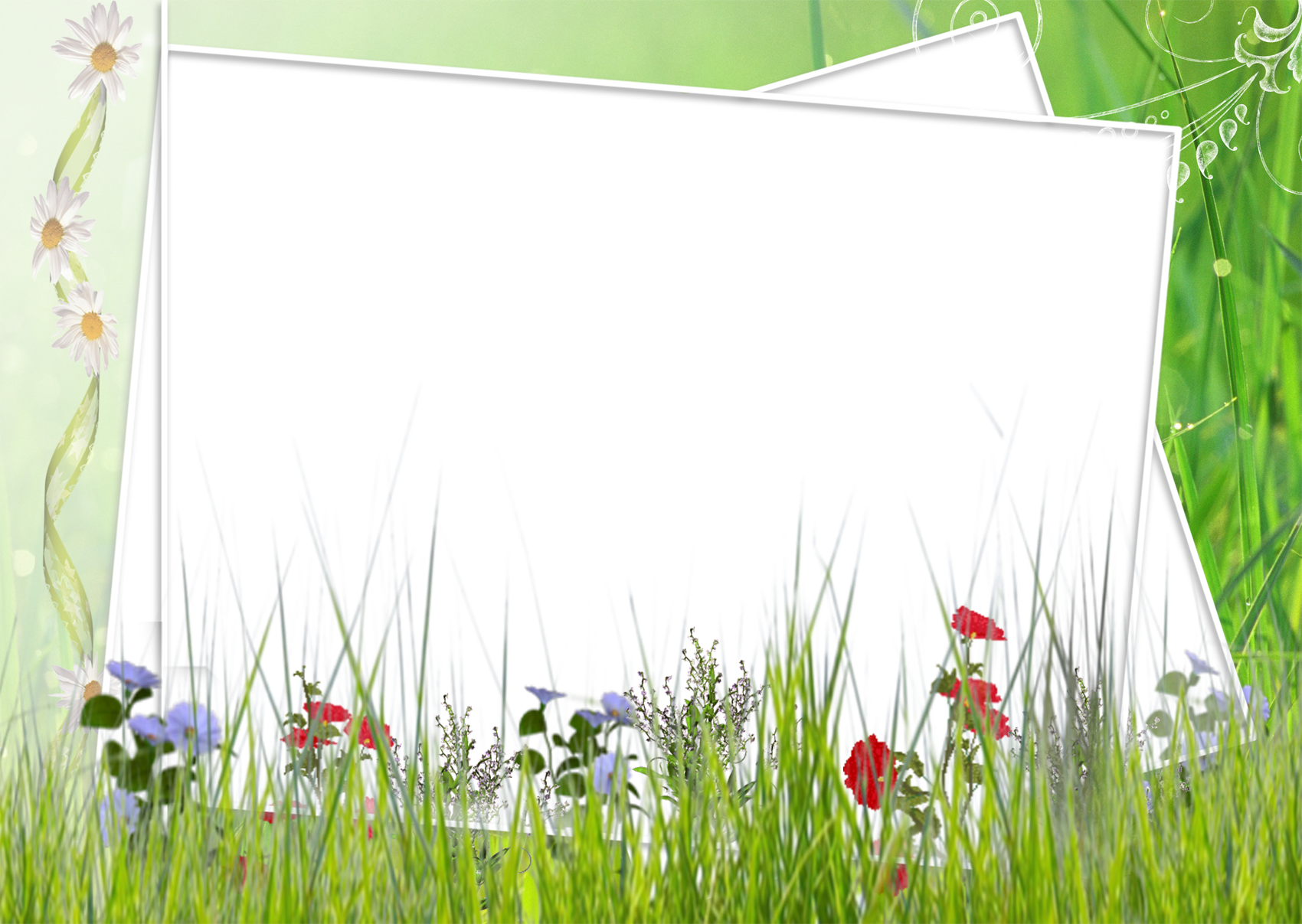 Field clipart green field. And white transparent frame
