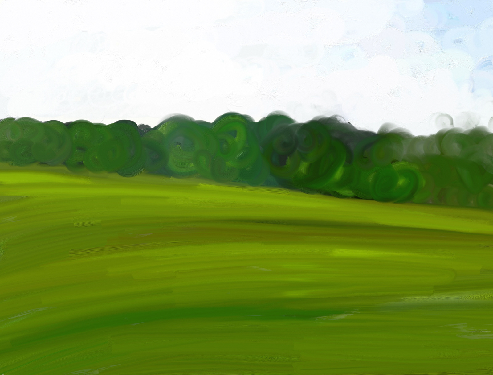 Field clipart green field. Free stock photo painting