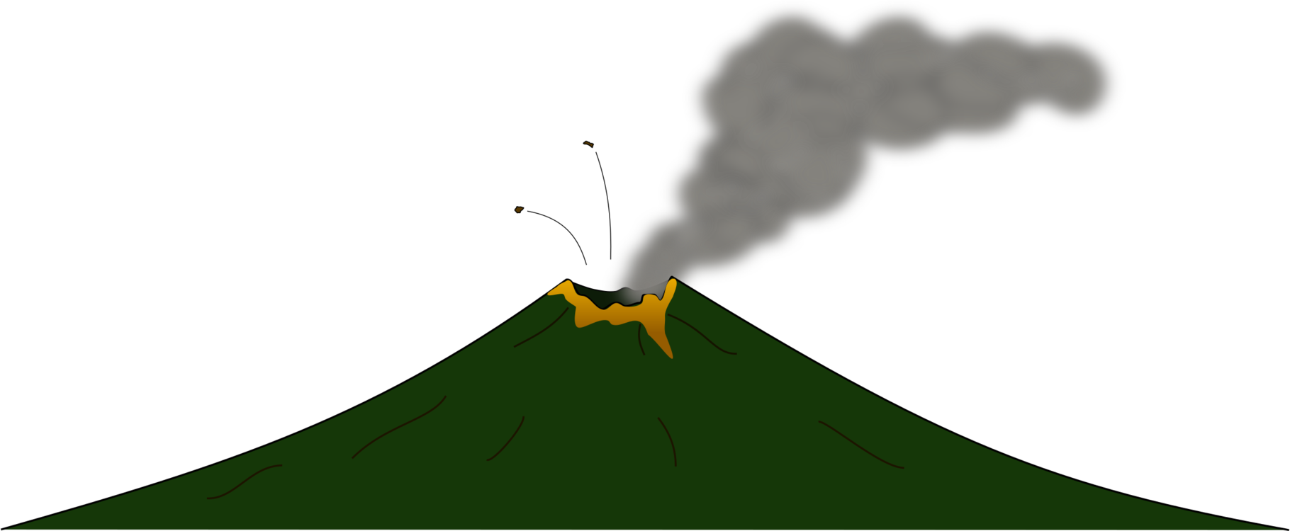 Volcanoes drawing volcanic mountain. Mayon volcano lava arenal