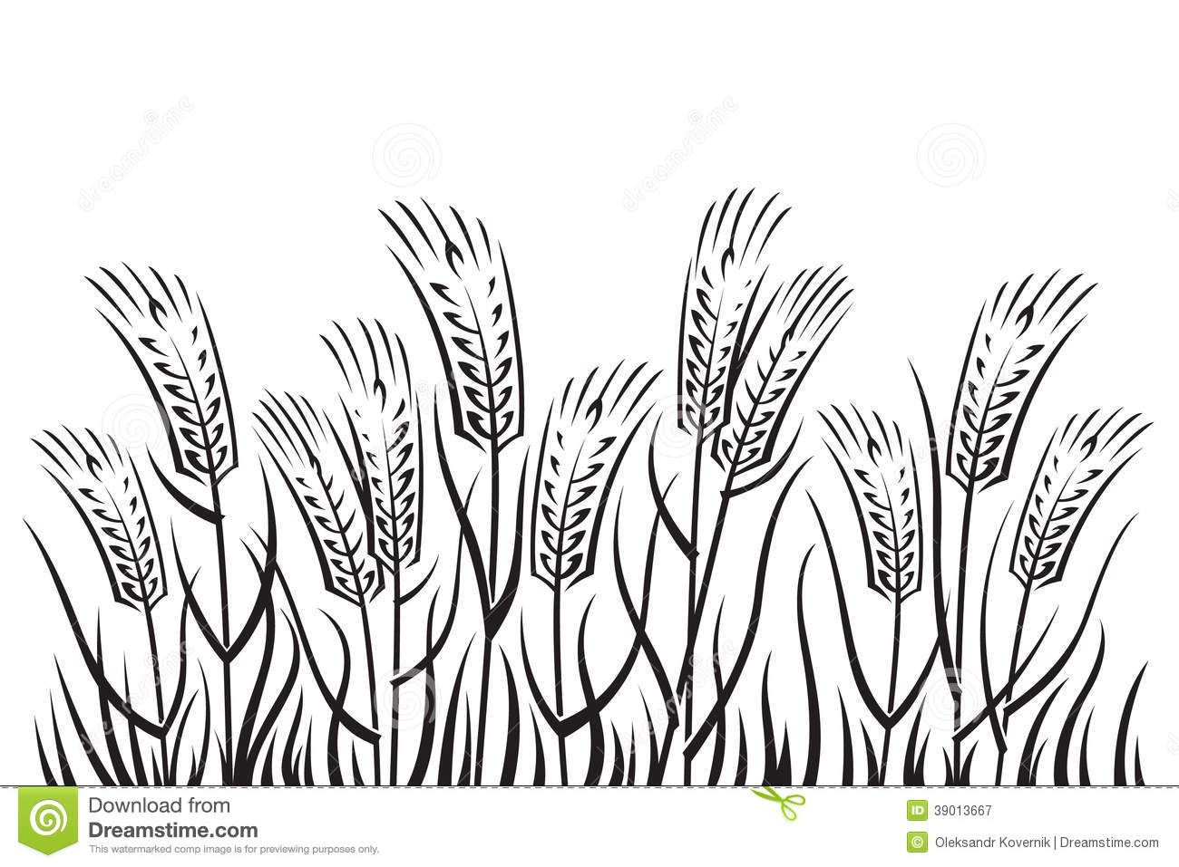 Field clipart plant field. Farm black and white