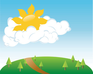 Field clipart scenery. Free image weather clip