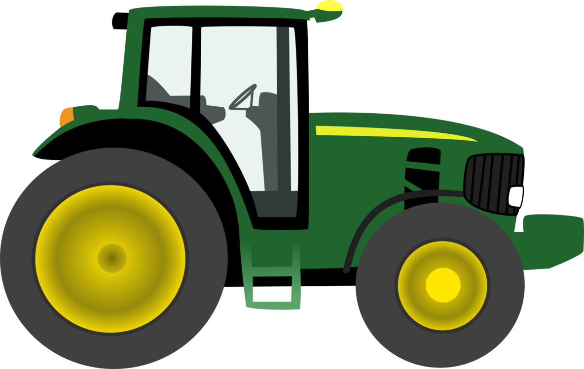 Green tractor agricultural machinery. John deere clipart png library stock