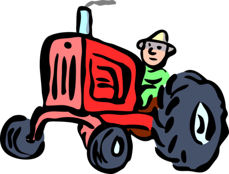 Field clipart tractor. Agriculture farmer agricultural land