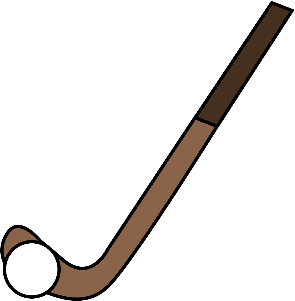 Field hockey stick clipart filled in png. File fhstickball svg wikipedia