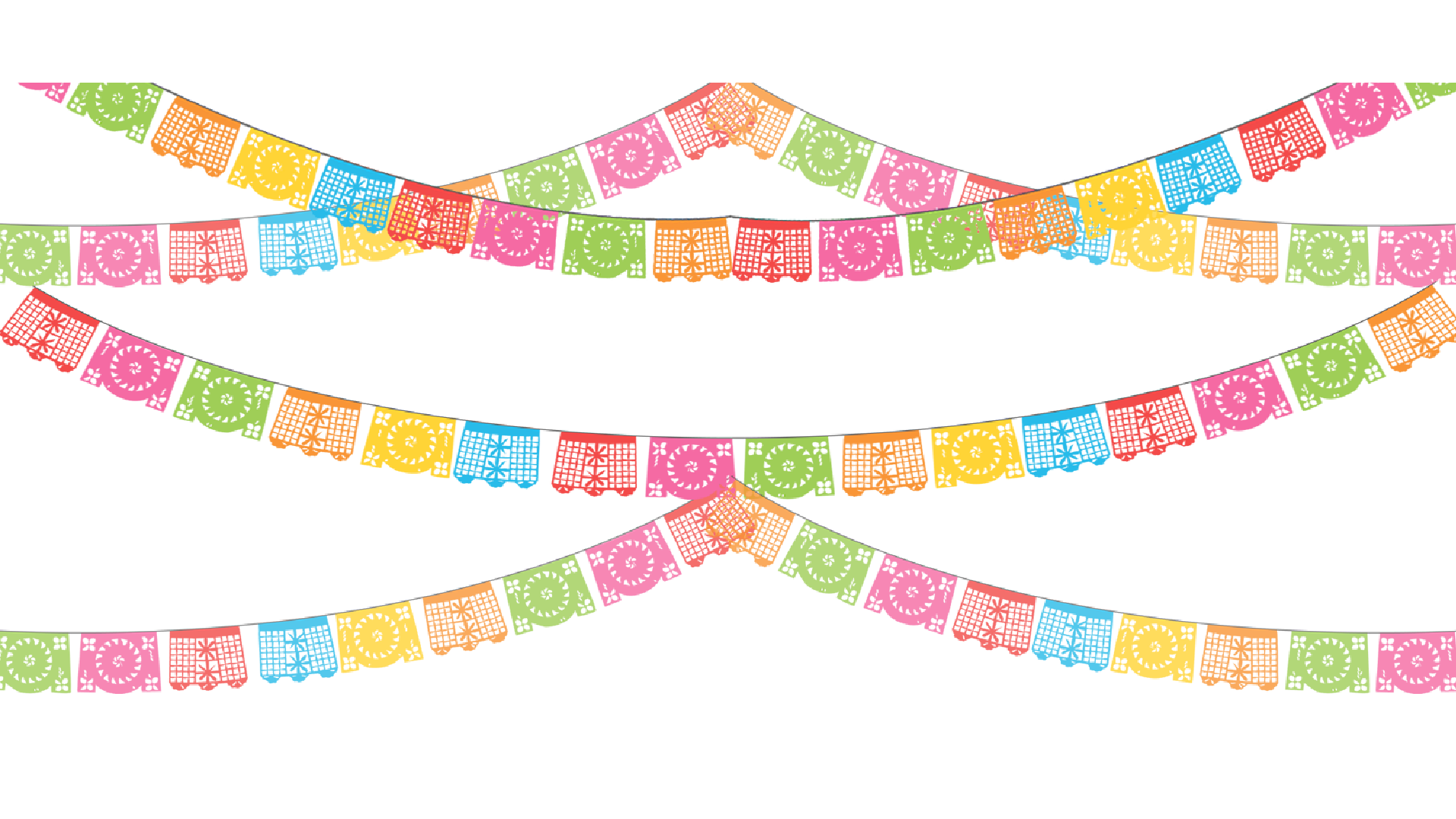 Fiesta banner png. Paper papel picado party