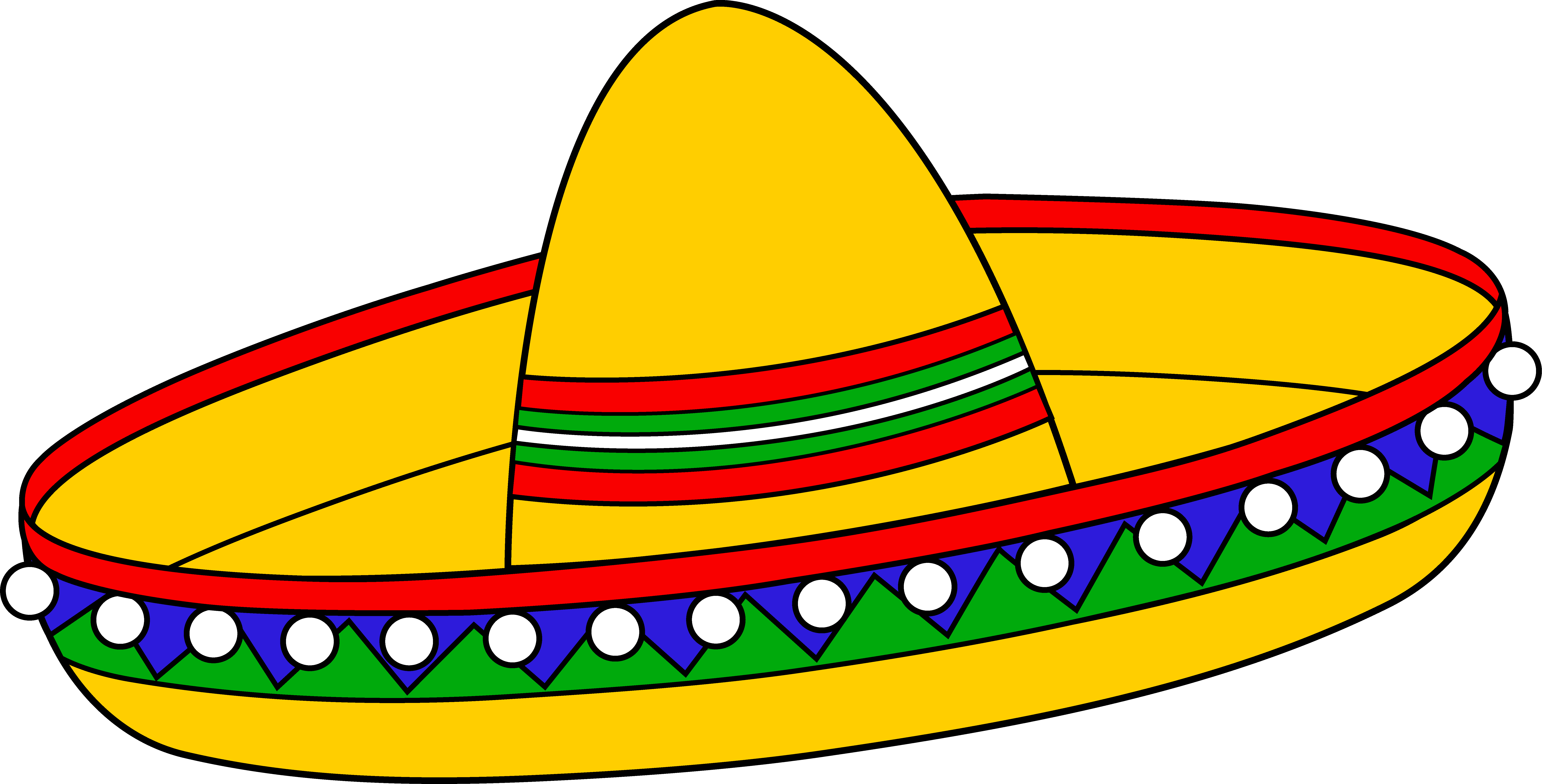 Vector sombrero hat mexico. Colorful mexican free clipart