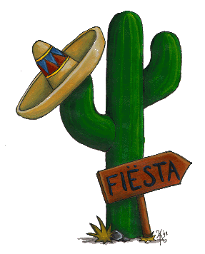 Fiesta clipart colorful. Dima s kitchen mexican