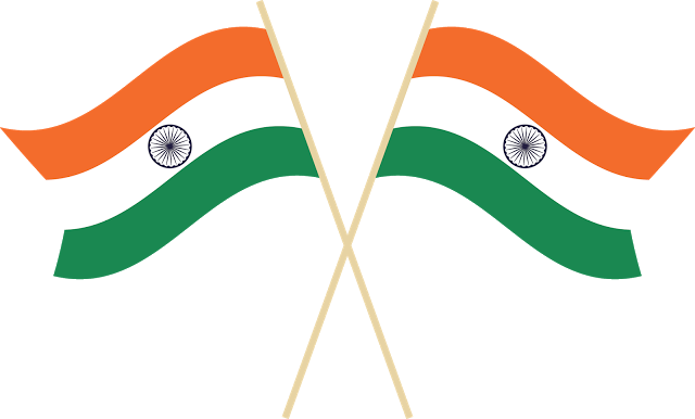 India transparent. Collection of free flagging