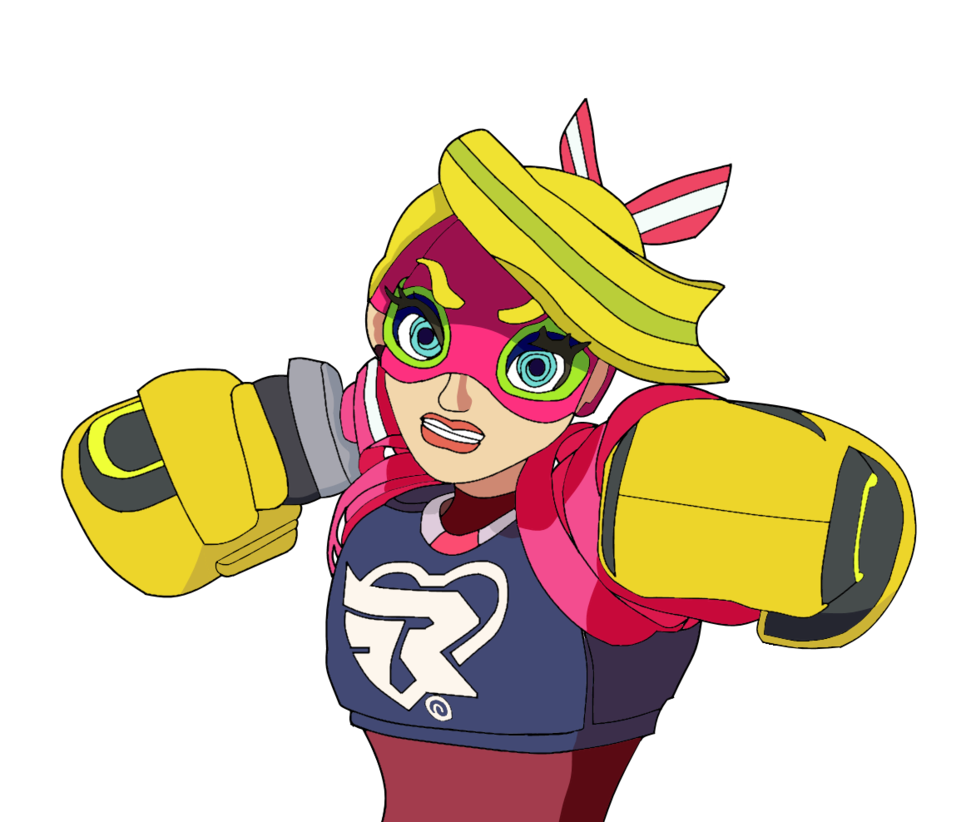 Fight arms png. Ribbon girl ready to