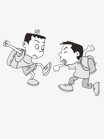 Fight clipart dispute. Two children boy cartoon