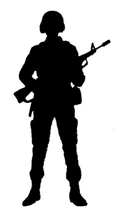 Fight clipart soldier. Military silhouettes free graphics