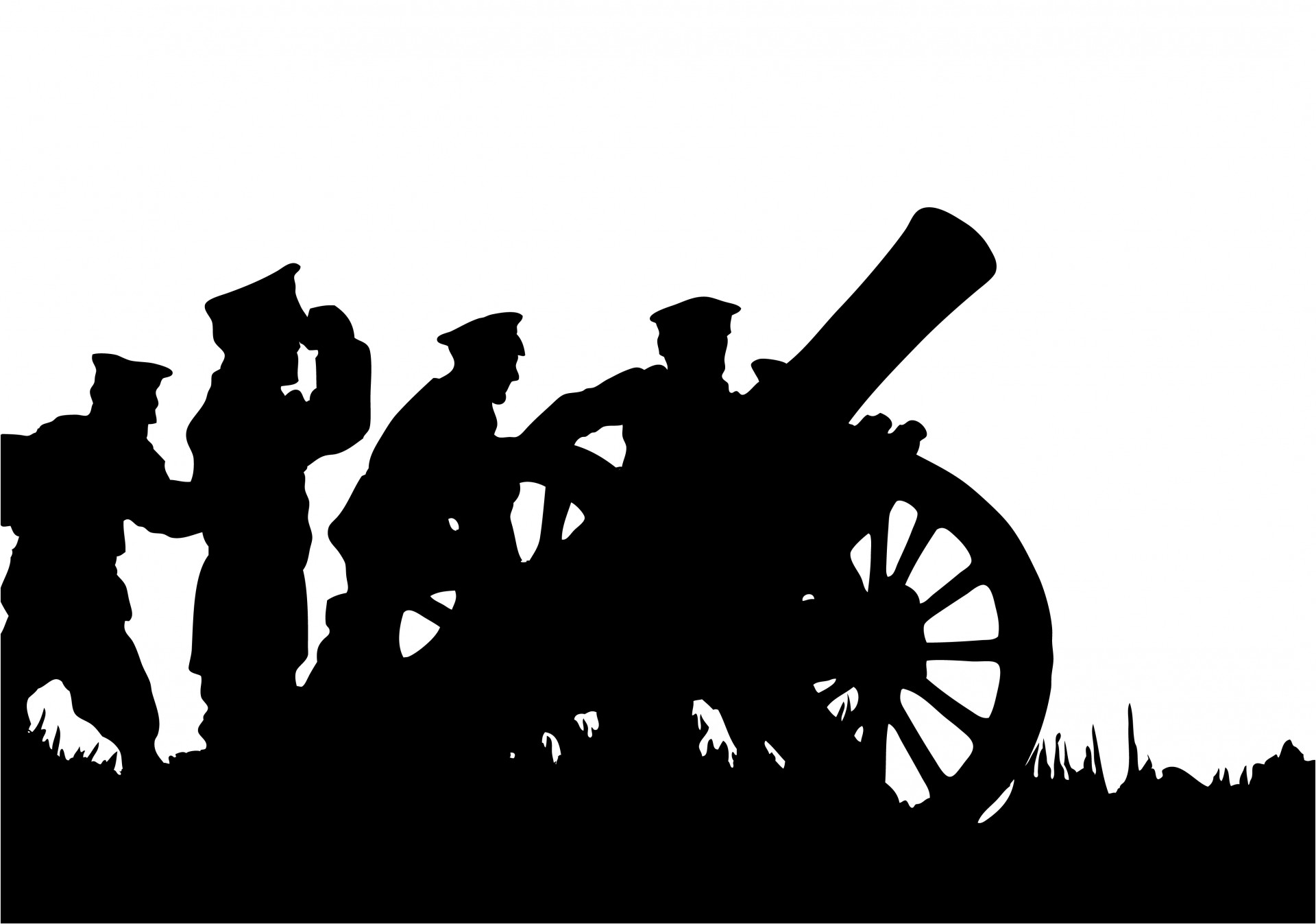 Soldiers clipart. With canon free stock
