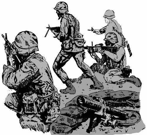 Fight clipart soldier. Advancing armedservicespersonneladvancingpnghtml
